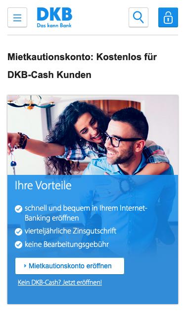DKB Mietkautionskonto online